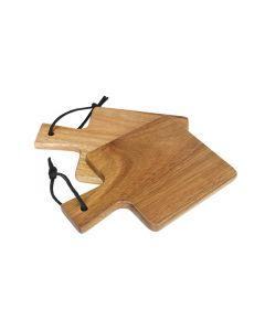 Mini bamboe serveerplank 10 x 14cm per set van 2