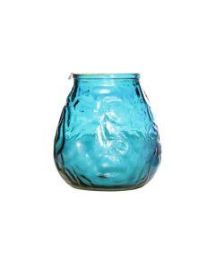 Lowboy kaars turquoise ø 10cm per set van 6