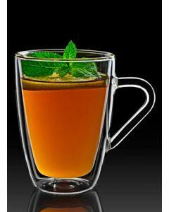 Dubbelwandig glas Mug 32cl per set van 2