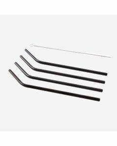 Set van 4 rietjes rvs zwart 20,5cm Point Virgule