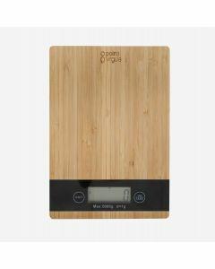 Digitale keukenweegschaal bamboe tot 5kg