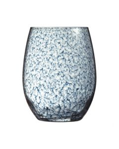 Waterglas Primary handcraft blauw 36cl per set van 6