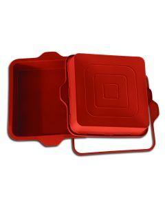 Siliconen bakvorm 'vierkante pan' 22,8 x 22,8cm