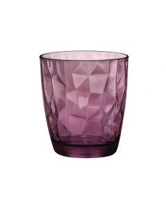 Waterglas Diamond Tumbler paars 30cl per set van 6